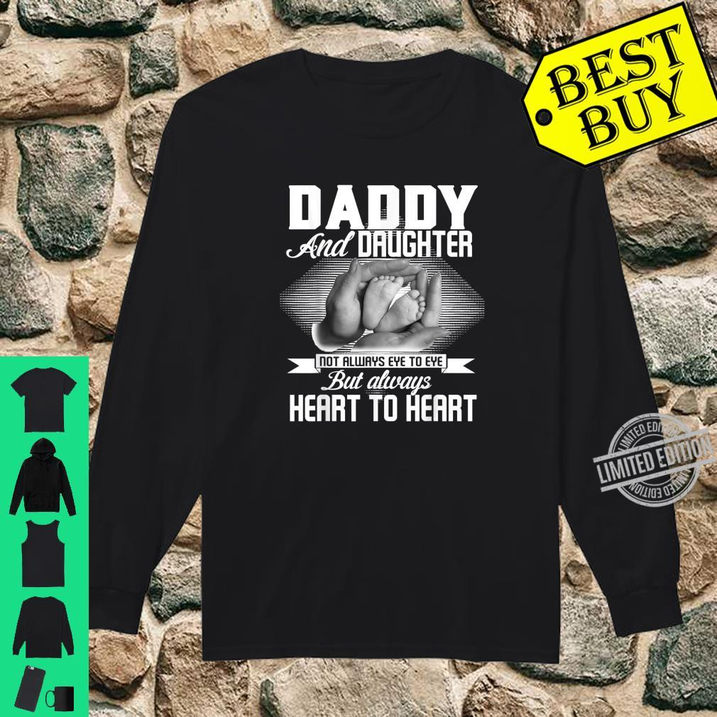 Family Daddy And Daughter Heart To Heart Shirt long sleeved