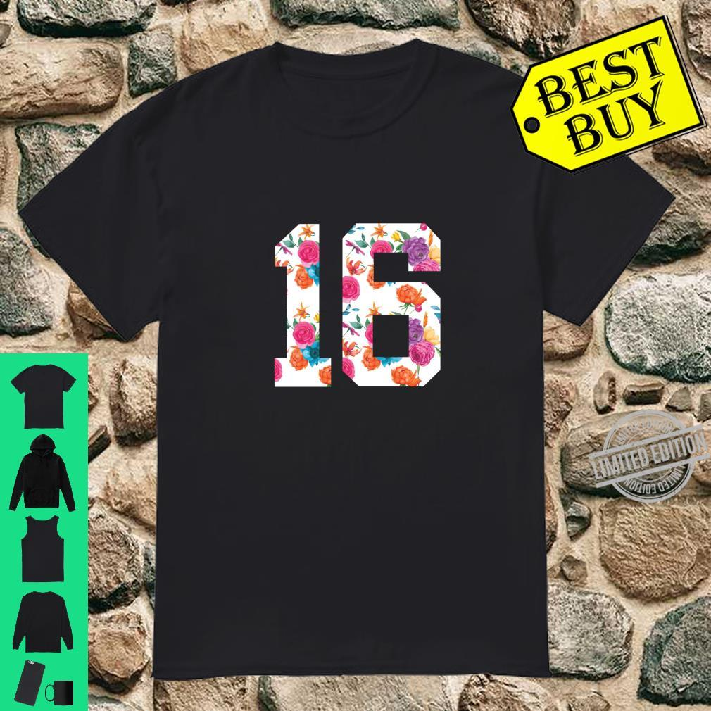 Footballs Floral Fan Jersey Number 16 Shirt