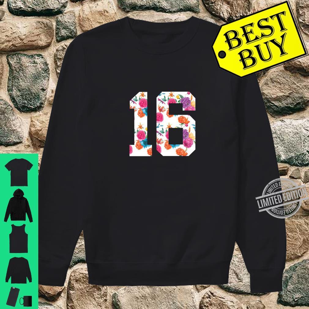 Footballs Floral Fan Jersey Number 16 Shirt sweater
