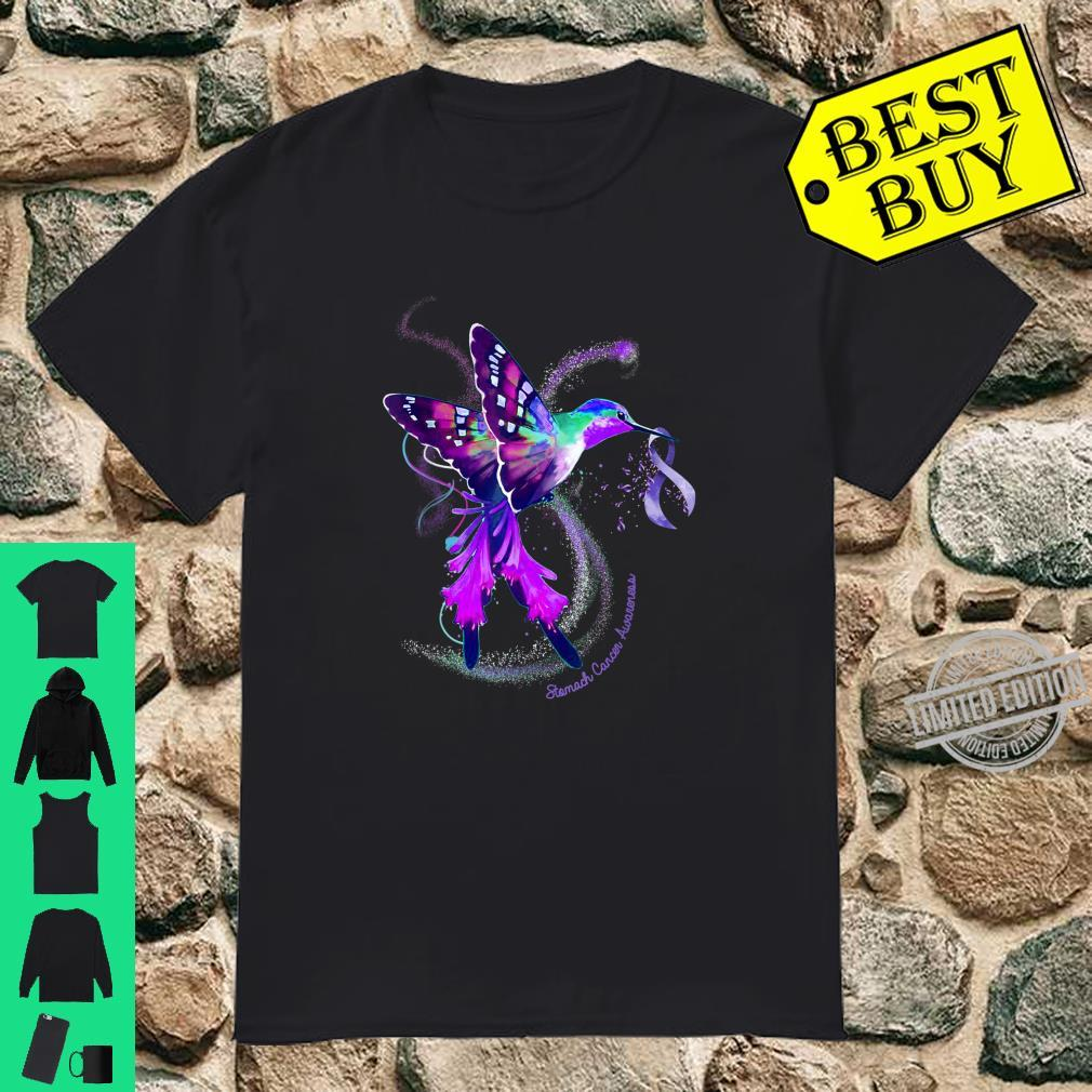 Hummingbird Periwinkle Ribbon Stomach Cancer Awareness Shirt