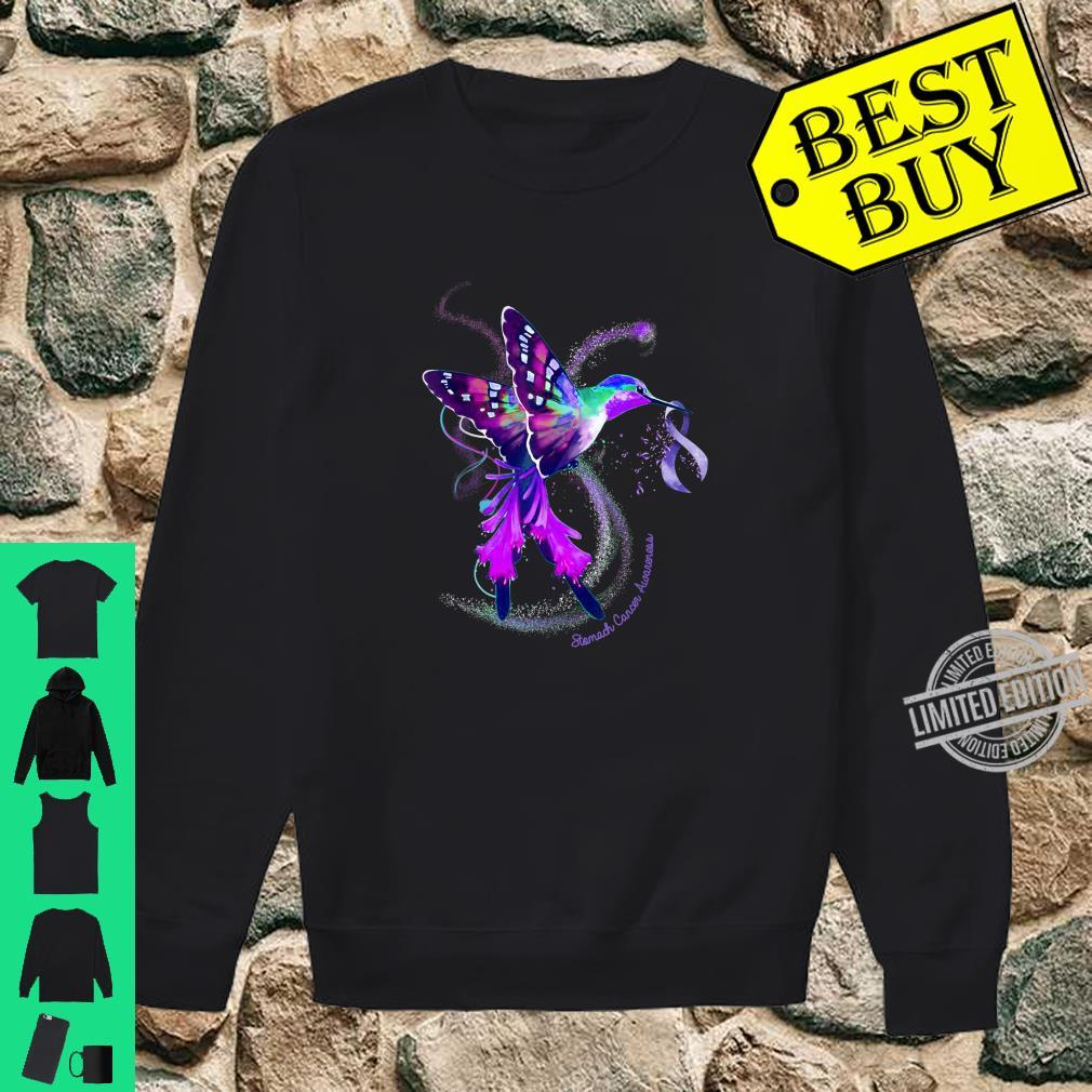 Hummingbird Periwinkle Ribbon Stomach Cancer Awareness Shirt sweater