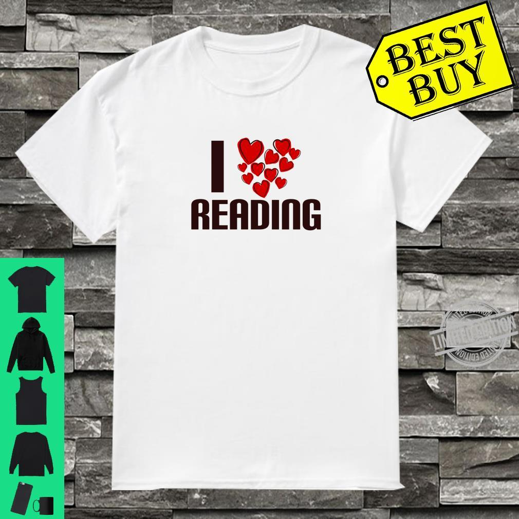 I Love Reading Book Cute Hearty person Shirt