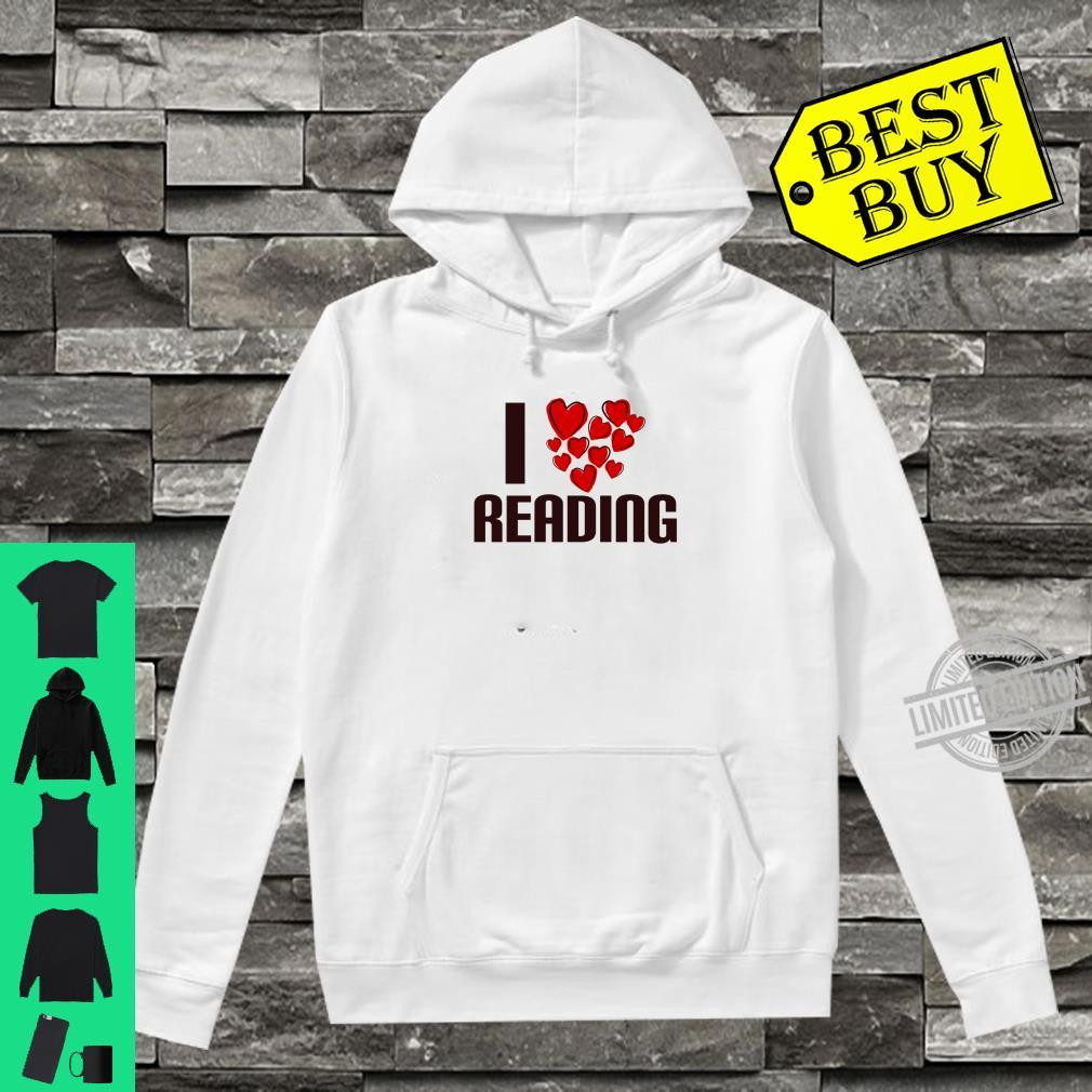 I Love Reading Book Cute Hearty person Shirt hoodie