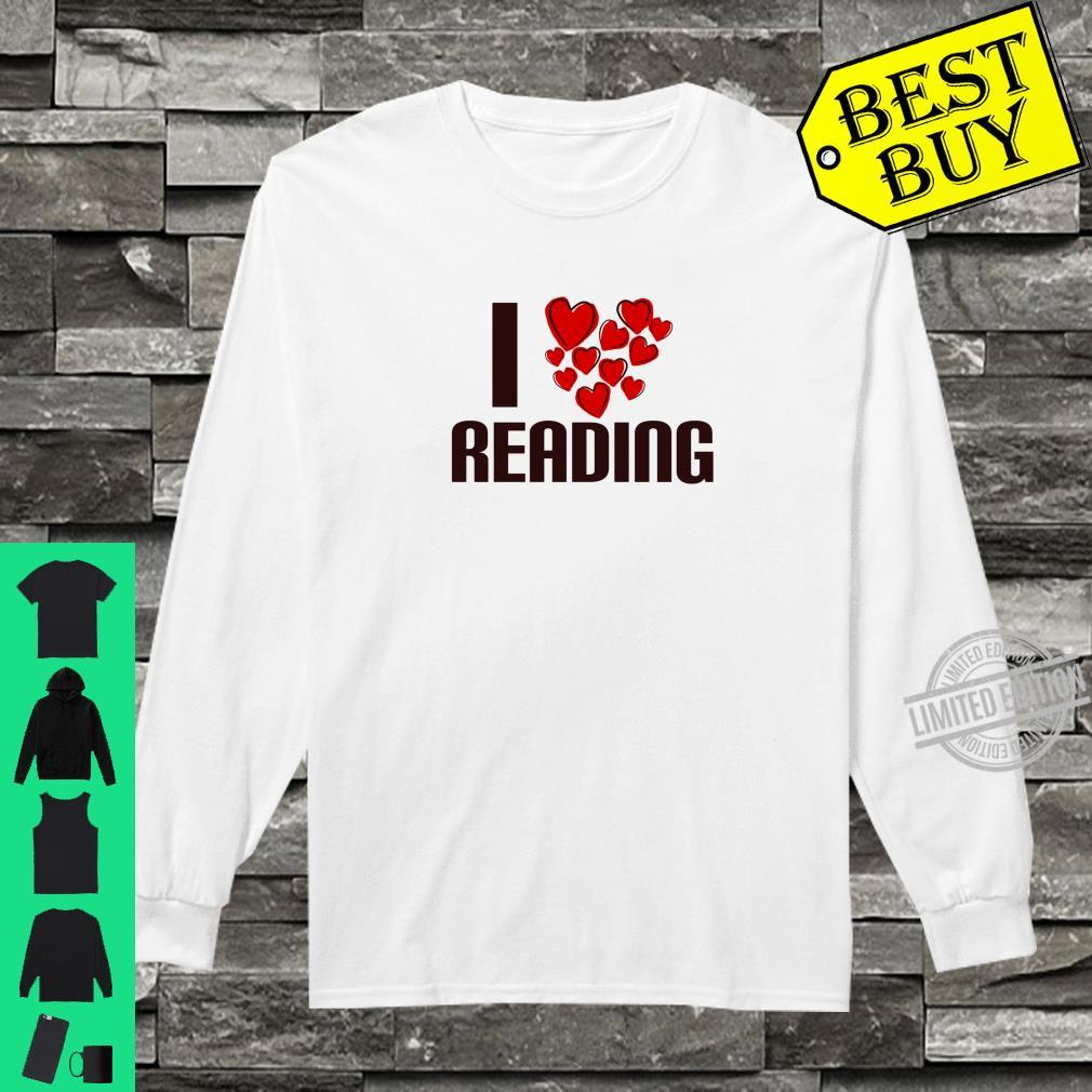 I Love Reading Book Cute Hearty person Shirt long sleeved