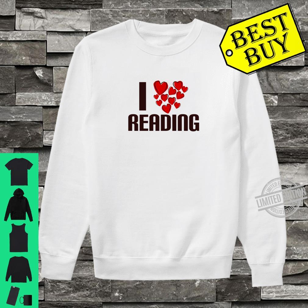 I Love Reading Book Cute Hearty person Shirt sweater
