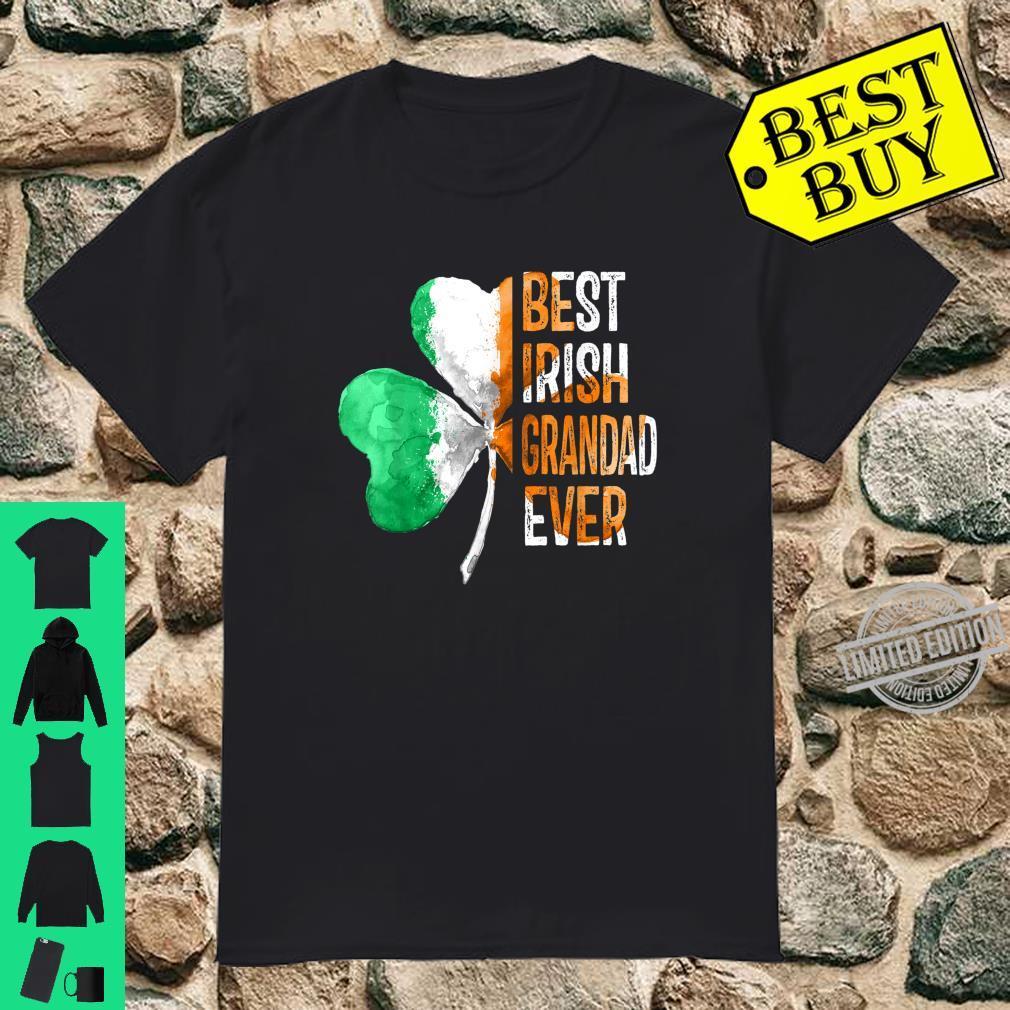 Mens Shamrock Ireland Flag Best Irish Grandad Ever Patty's day Shirt