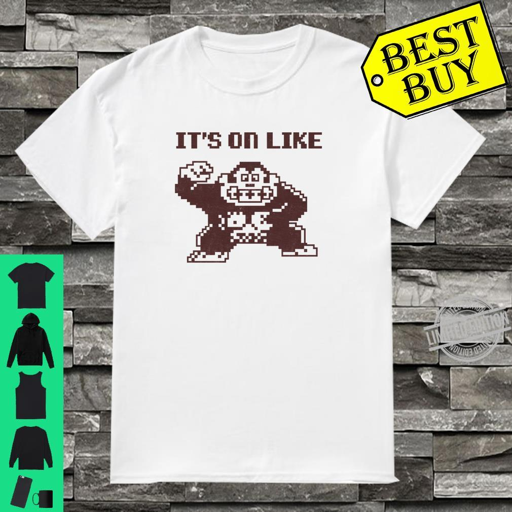 Nintendo Donkey Kong It's On Like Text Poster Shirt