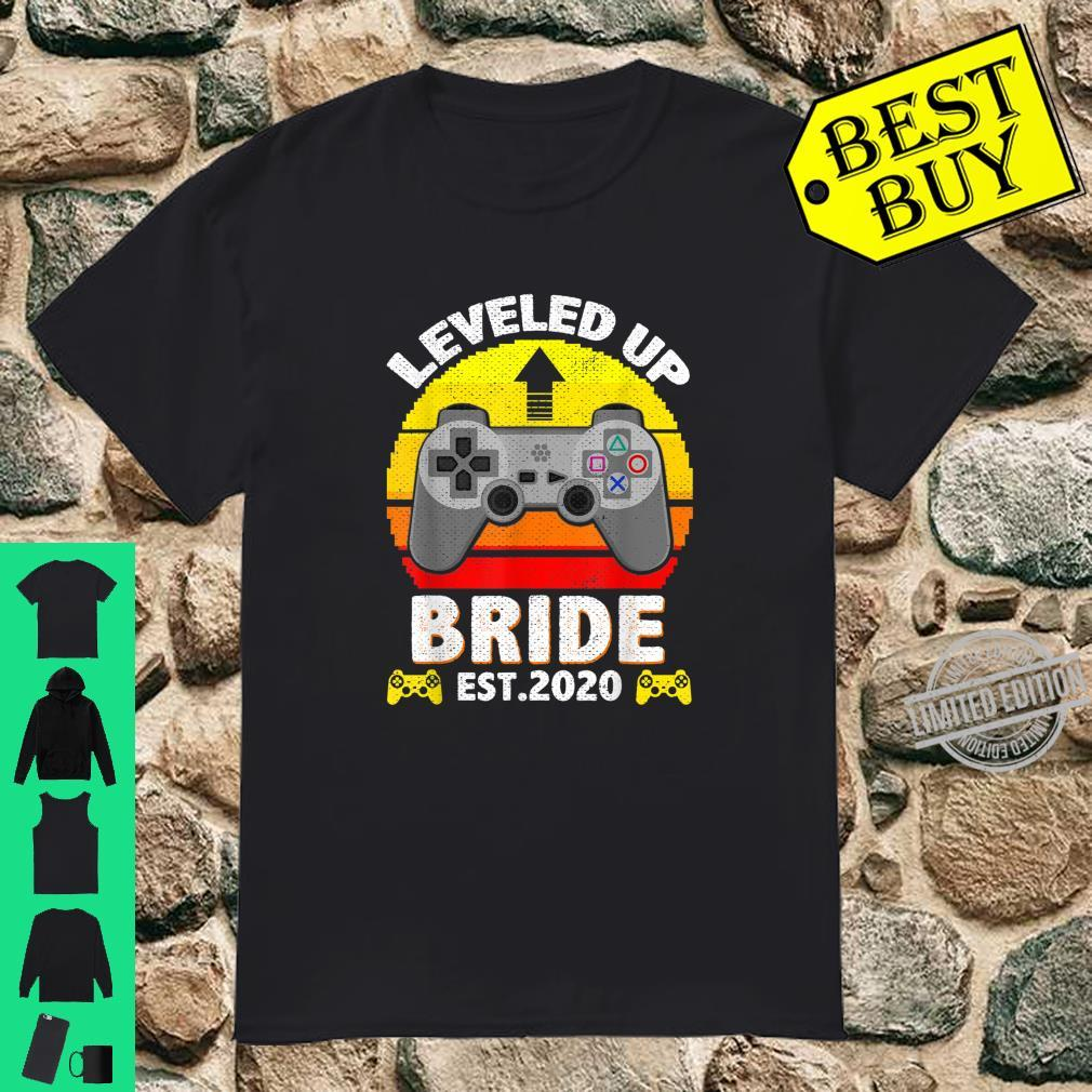 Retro Leveled To Bride Promoted to Bride 2020 Shirt