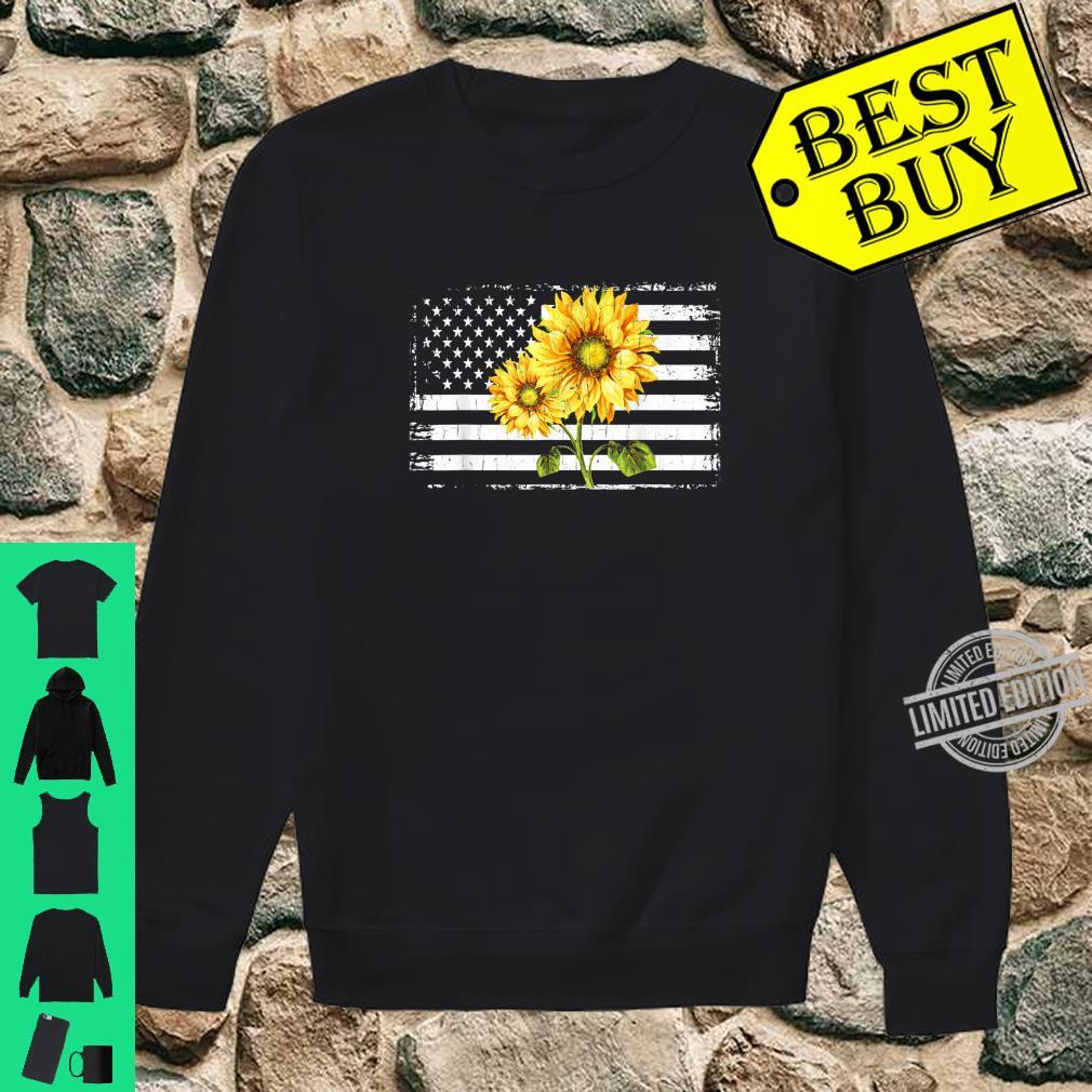 Sunflower American Flag Patriotic 4th Of July Shirt sweater