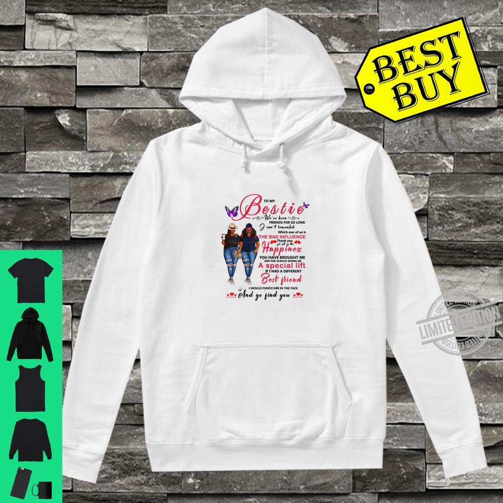 To My Bestie Afro Black With Natural Hair Shirt hoodie