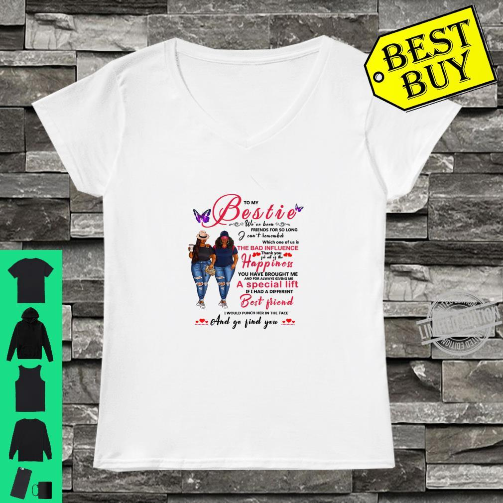 To My Bestie Afro Black With Natural Hair Shirt ladies tee