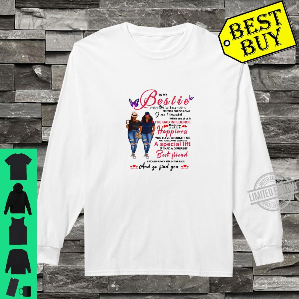 To My Bestie Afro Black With Natural Hair Shirt long sleeved