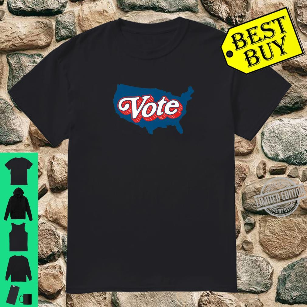 VOTE Pro Voting Retro Font Shirt