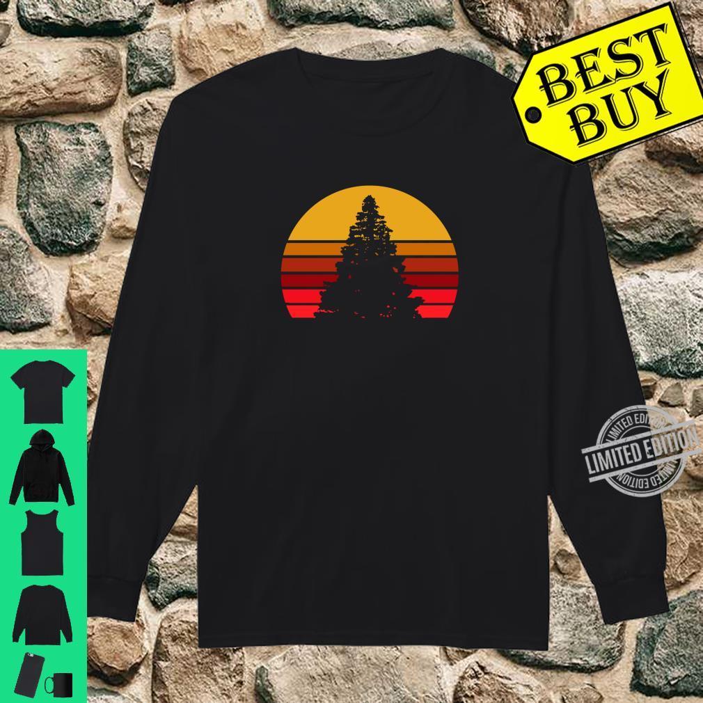 Vintage Sunset Rock,, Shirt long sleeved