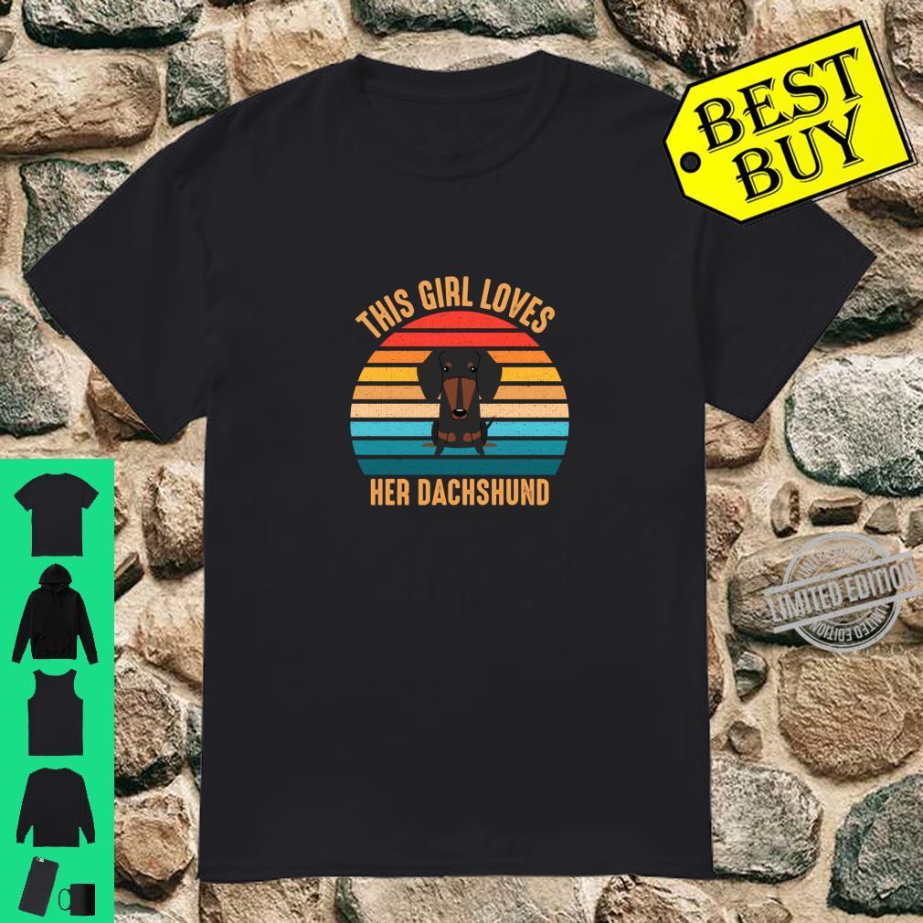 Vintage Weenie This Girl Love Her Dachshund Retro Shirt
