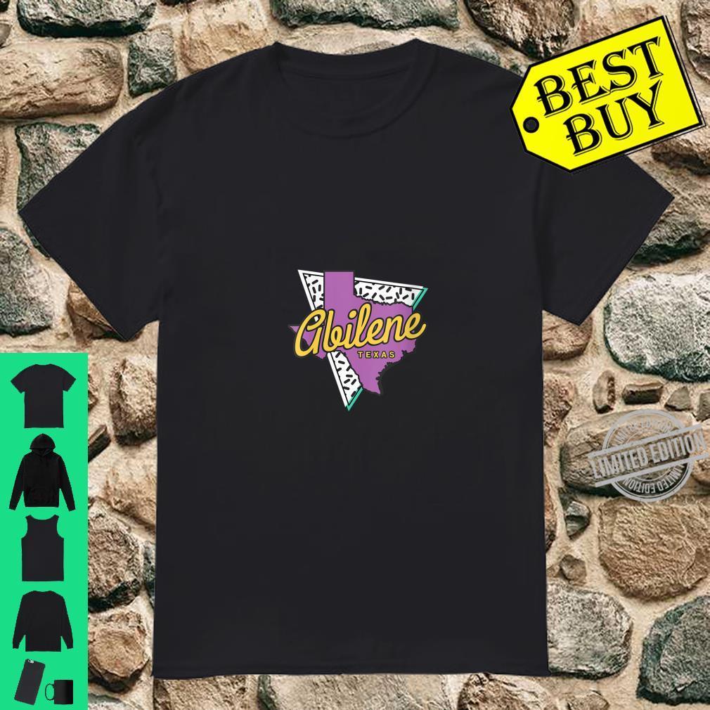 Womens Retro Abilene Texas Map Abilene Shirt