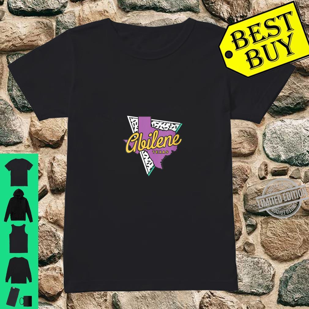 Womens Retro Abilene Texas Map Abilene Shirt ladies tee