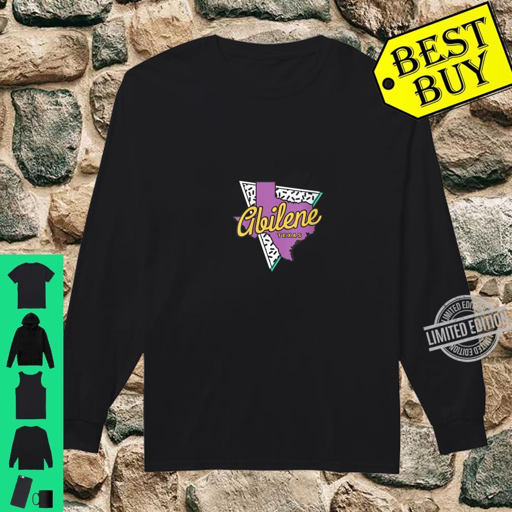 Womens Retro Abilene Texas Map Abilene Shirt long sleeved